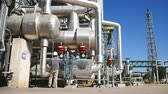 petrochemical : A man stand alone in process area of petrol and chemical refinery factory in day time