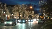 уличный свет : The main street of a small town on the eve of Christmas