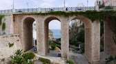 vila : Beautiful old bridge in Polignano a Mare, Puglia region, Italy