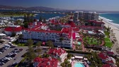 coronado : San Diego - Coronado Beach - Drone Video Aerial Video of Coronado Island setting captures the relaxed beauty and seaside charms of the quintessential Southern California coastal lifestyle.