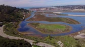 caído : San Diego - San Dieguito River Park - Drone Video  Aerial Video of San Dieguito River Park-Grand Avenue Bridge was slated for demolition as part of the restoration of the San Dieguito Lagoon