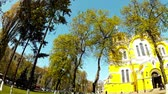 キューポラ : Panoramic shooting of the St. Vladimirs Cathedral in Kiev 動画素材