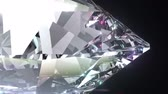 Abstract 3d animation with beautiful sparkling diamond.