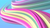 Abstract three-dimensional animation background, pastel colors waves. Seamless loop able.