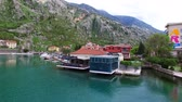 The Old Town of Kotor. Flying over the city. Aerial survey by a drone. Montenegro Стоковые видеозаписи