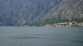 City Dobrota in the Bay of Kotor, Montenegro. Стоковые видеозаписи