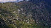 appalachian : Mountain on day in Montenegro. Stock Footage