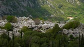 majestic : Mountain on day in Montenegro. Stock Footage