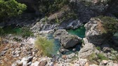 green canyon : Moraca Canyon. North of Montenegro. Canyon in the mountains with a mountain river.