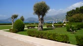 вилла : The territory of the park Sveti Stefan in front of the island. Montenegro, the Adriatic Sea, the Balkans.