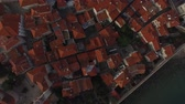 citadel : The Old Town of Budva, aerial shooting with air drone in Montenegro
