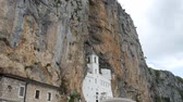 базилик : Ostrog monastery in Montenegro. The unique monastery in the rock.