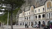 serbia : Ostrog monastery in Montenegro. The unique monastery in the rock.