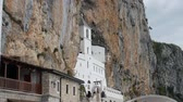 bazylia : Ostrog monastery in Montenegro. The unique monastery in the rock.