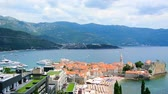 citadel : The Old Town of Budva, Montenegro Stock Footage