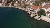 adriatic sea : Hotel on the shore of Kotor Bay. Aerial photography.
