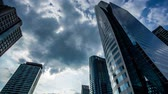 sathorn : Cityscape Modern building at sunset and cloudy sky,Time lapse