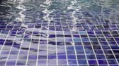 Stairs under the water of swimming pool, stock footage Vídeos