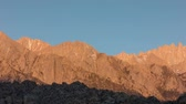Golden Sierra - Sunrise on the Sierra Nevada mountains in Lone Pine.