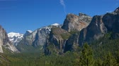 Yosemite Valley Falls Pan - Panning across Yosemite Valley from tunnel view.