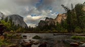 Yosemite Valley View - Motion control time lapse of Valley View in Yosemite National Park. Stock Footage