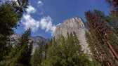 El Capitan - Motion control time lapse looking high into the face of El Capitan in Yosemite. Stock Footage