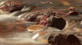 smooth water : River Rocks - Time lapse of Sierra snow melt flowing over river rocks. Stock Footage