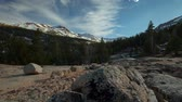 Sonora Pass - Motion control time lapse from Sonora Pass in the Sierra Nevada mountains on the Pacific Crest Trail. Stock Footage
