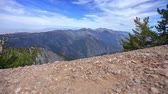 Mount Baldy - Motion control time lapse from mountain top overlooking Mount Baldy on the Pacific Crest Trail. Stock Footage