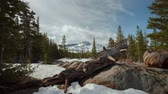 típico : Carson Pass - Afternoon motion control time lapse of winter in the High Sierras of California. Stock Footage