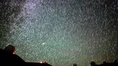 astrologia : Astrophotography time lapse with tilt up motion of startrails over Mauna Kea Observatories in Hawaii