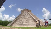 columbian : Mayan Ruin of Chichen Itza Time Lapse Stock Footage