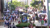 local : Crowded Santa Monica 3rd Street Promenade Time Lapse