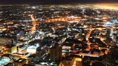 manzara : Downtown LA Night Cityscape Time Lapse Horizon Stok Video