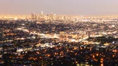 costruzioni : Downtown Los Angeles Skyline Twilight Time lapse