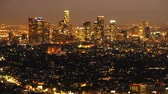 major city : Downtown Los Angeles Skyline Twilight Time Lapse Pan Right
