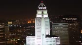 corte : Los Angeles City Hall at Night Time Lapse