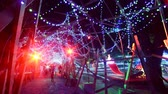 неузнаваемый : Time Lapse of Holiday Illumination and Crowds