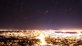 metropolitan : Time Lapse of Star Trails over Bay Area Cityscape Night to Day Close Up