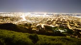 söprés : Motion Control Dolly Time Lapse of Bay Area Cityscape at Night Pan Left