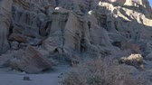 california drought : Motion Control DollyPan Time Lapse of Sunshine on Sandstone Formation Long Shot Stock Footage