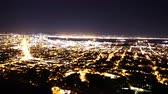 major city : 4K Motion Control Pan Time Lapse of Bay Area Night Cityscape Pan Left
