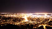 defne : 4K Time Lapse of San Francisco Bay Area Cityscape Night to Day Pan Right Stok Video