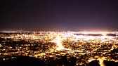 major city : 4K Time Lapse of San Francisco Bay Area Cityscape Night to Day Stock Footage