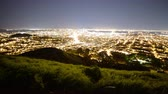 major city : 4K Motion Control Dolly Time Lapse of Bay Area Cityscape at Night Zoom Out Stock Footage