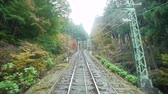 honra : Cable Car Ascending Autumn Mountain in Japan Time Lapse Vídeos