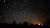 radial : 4K Astrophotography Time Lapse of Star Trails over Tufa Towers Tilt Up