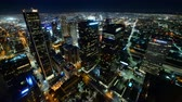 major city : Time lapse footage of downtown Los Angeles at night during Earth Hour, the global energy conservation event in 2015