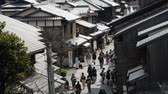 maiko : Footage of tourists walking on historic street of Ninenzaka in Kyoto, Japan -Version 1-