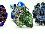 camgöbeği : precious silvery rings jewelery with gem crystals